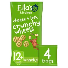 image 1 of Ella's Kitchen Cheese & Leek Crunchy Wheels 4X15g