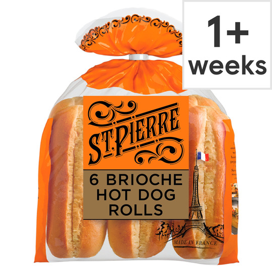 St Pierre 6 Brioche Hot Dog 270g Tesco Groceries