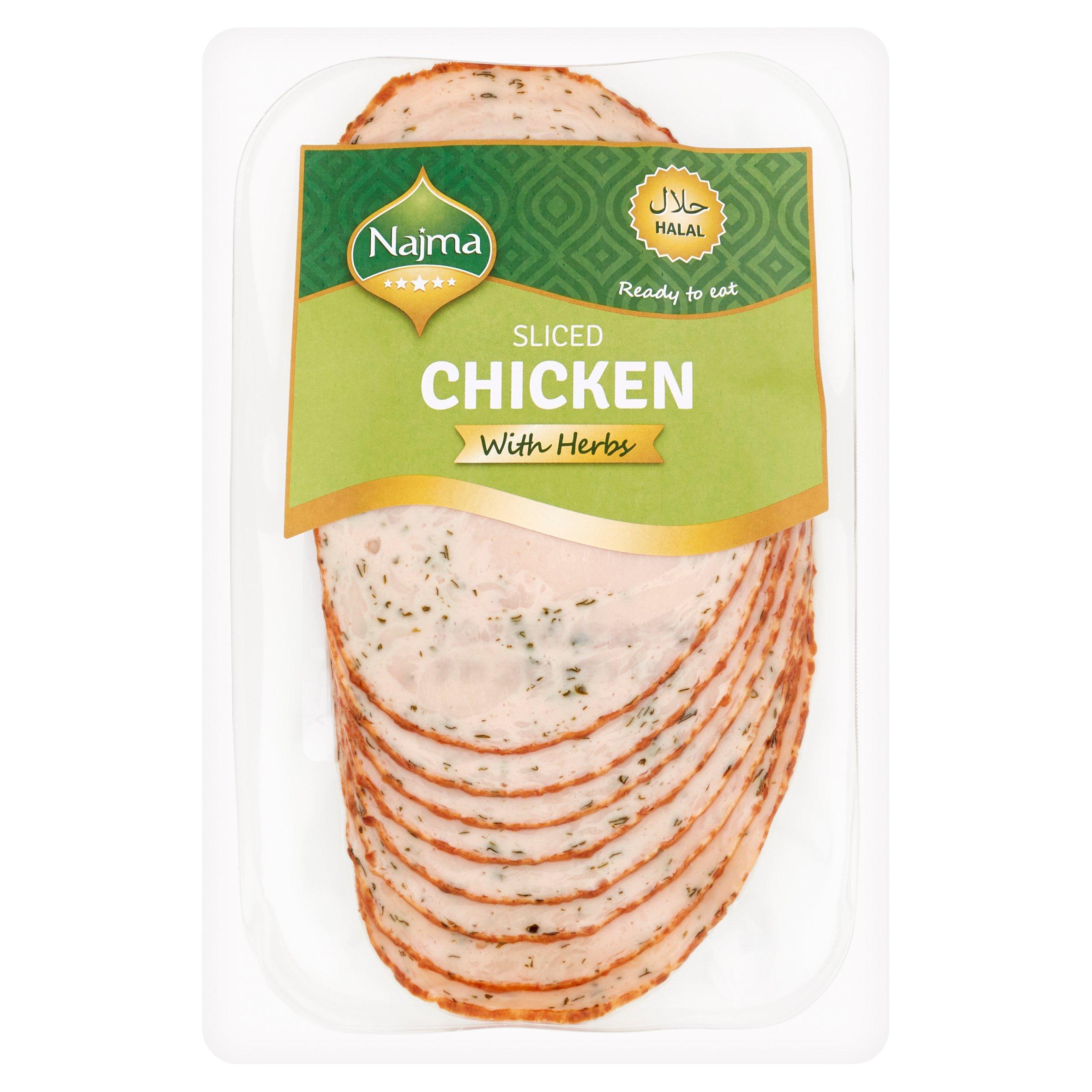 Najma Sliced Chicken With Herbs 150G