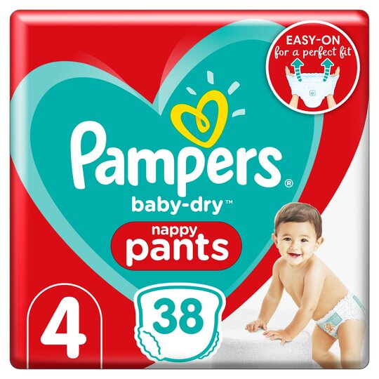image 1 of Pampers Baby Dry Pants Essential Pack Size 4 38 Nappies