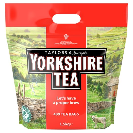 Yorkshire Teabags 480'S 1.5Kg