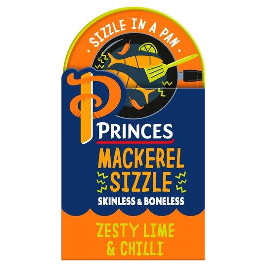 Princes Mackerel Sizzle Lime & Chilli 160G