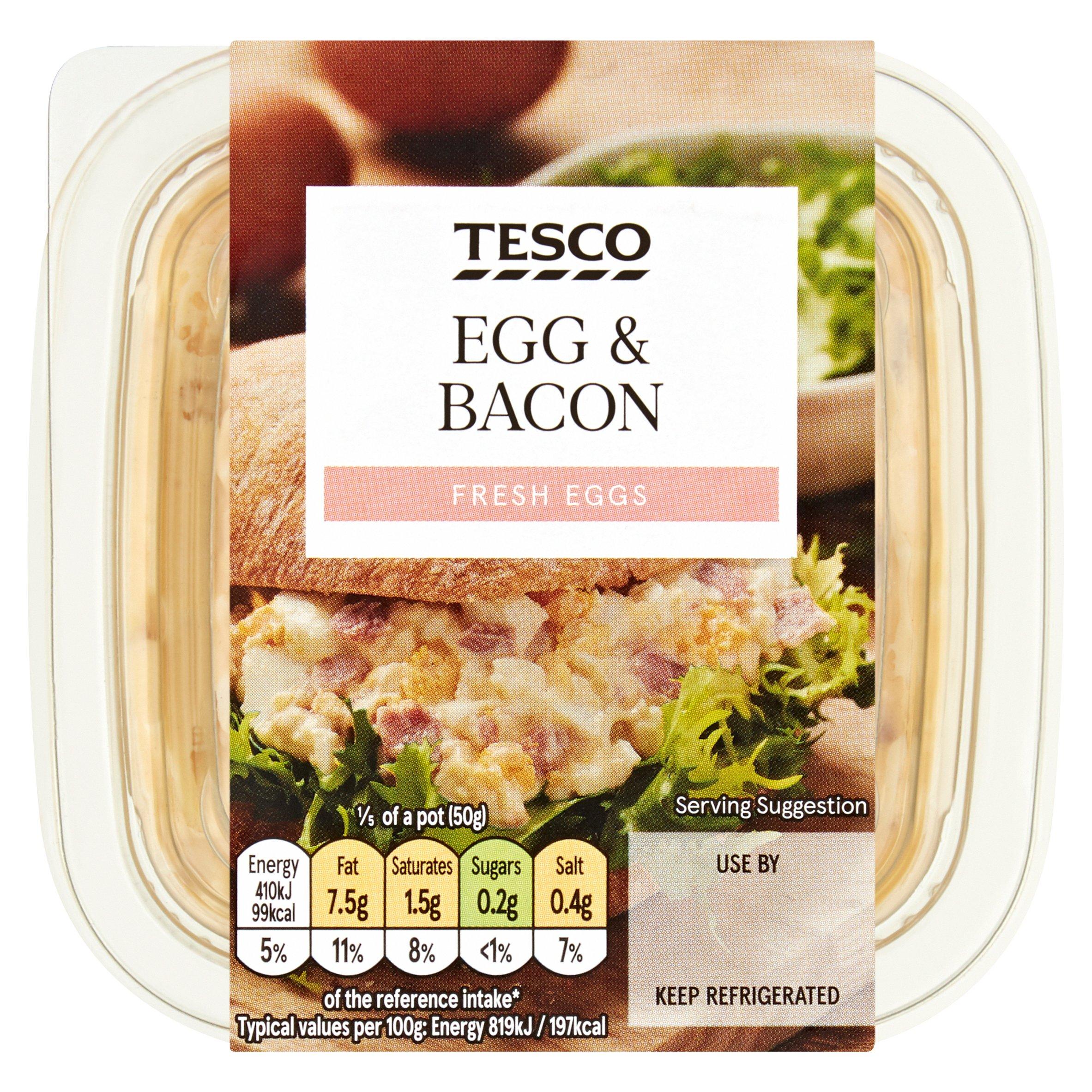 Tesco Egg & Bacon Sandwich Filler 250G