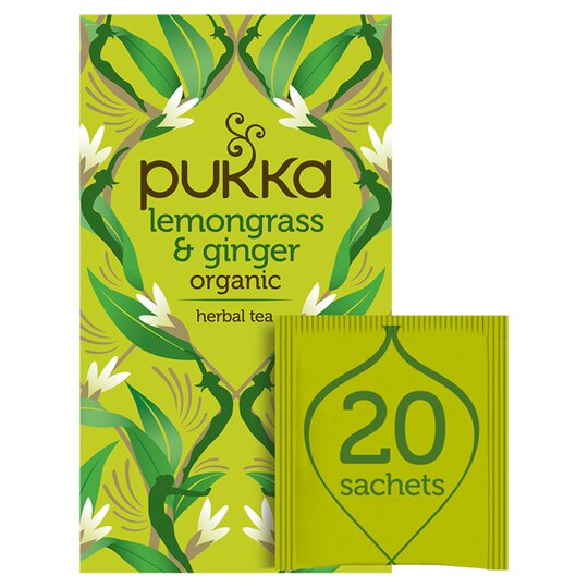 Pukka Organic 20 Lemon Grass & Ginger Tea Bags 36G