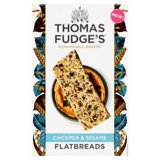 Thomas Fudge's Chickpea & Sesame Flatbread 140G