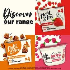image 4 of Light & Free Greek Style Yogurt Sticky Toffee 4X115g