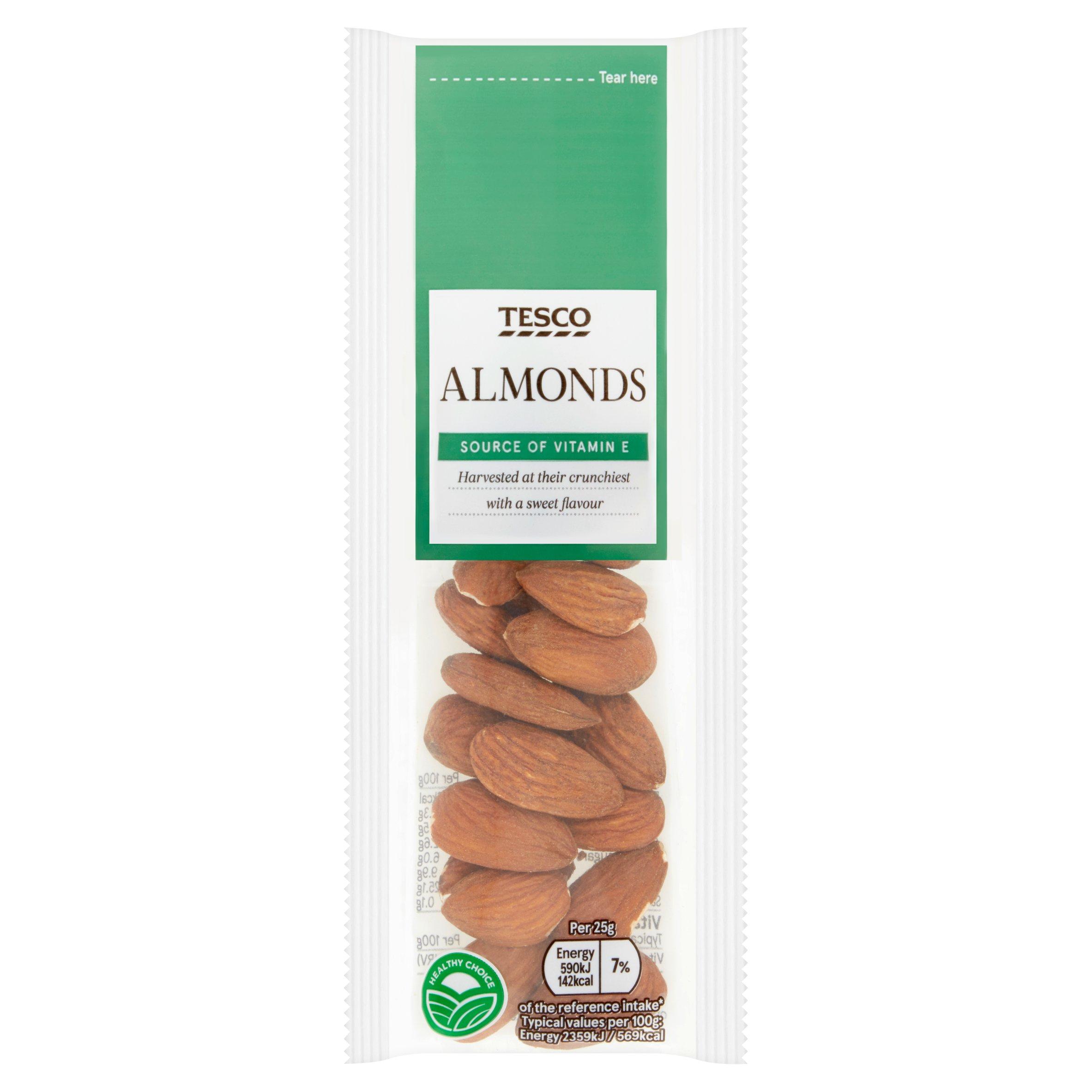 Tesco Almonds 25G