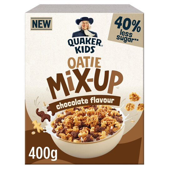 image 1 of Quaker Kids Oatie Mix Up Chocolate Cereal 400G