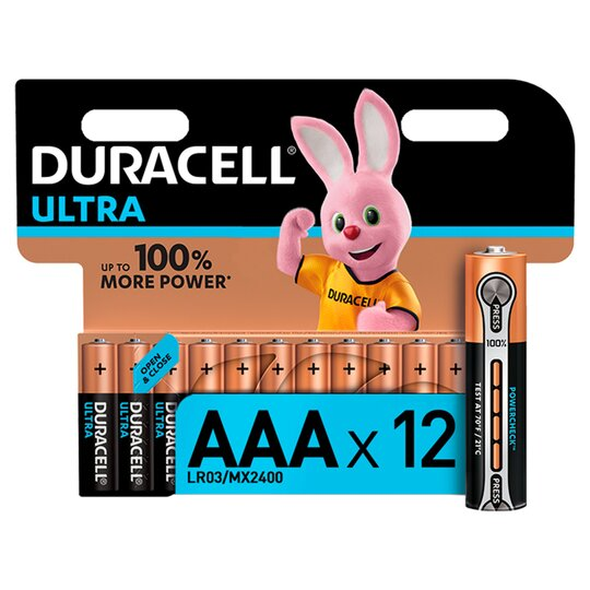 Duracell Ultra AAA 12 Pack - Tesco Groceries