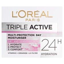 image 1 of L'oreal Paris Triple Active Day Dry Moisutriser 50Ml