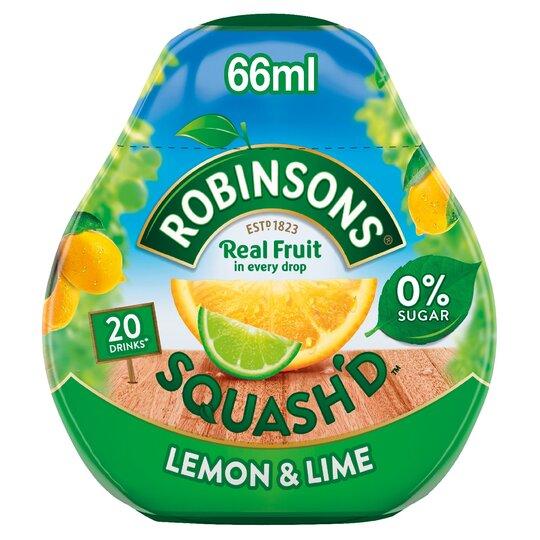 Robinsons Squash'd Lemon Lime 66Ml