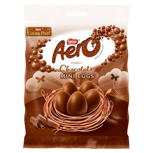 Aero Milk Chocolate Mini Eggs Bag 70G