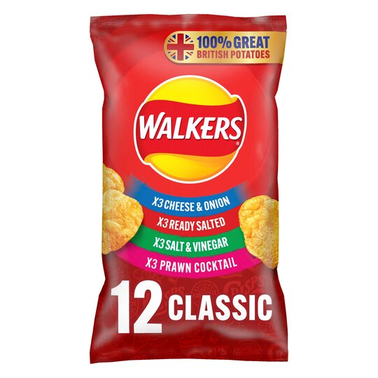 image 1 of Walkers Classic Variety Crisps 12 X 25G