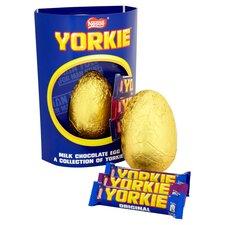 image 1 of Nestle Yorkie Milk Chocolate Easter Egg & Chocolate 336G