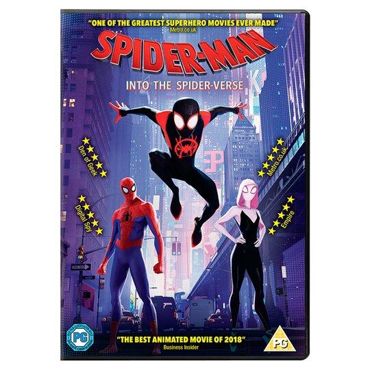 Spider Man Into The Spider Verse Dvd Tesco Groceries