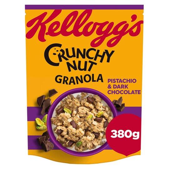 Kellogg's Crunchy Nut Granola Pistachio Dark Chocolate 380G