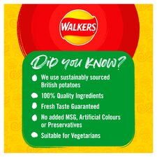 image 3 of Walkers Ready Salted Crisps 6X25g