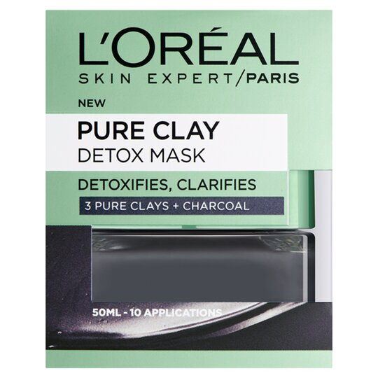 image 1 of L'oreal Pure Clay Detox Mask Black 50Ml