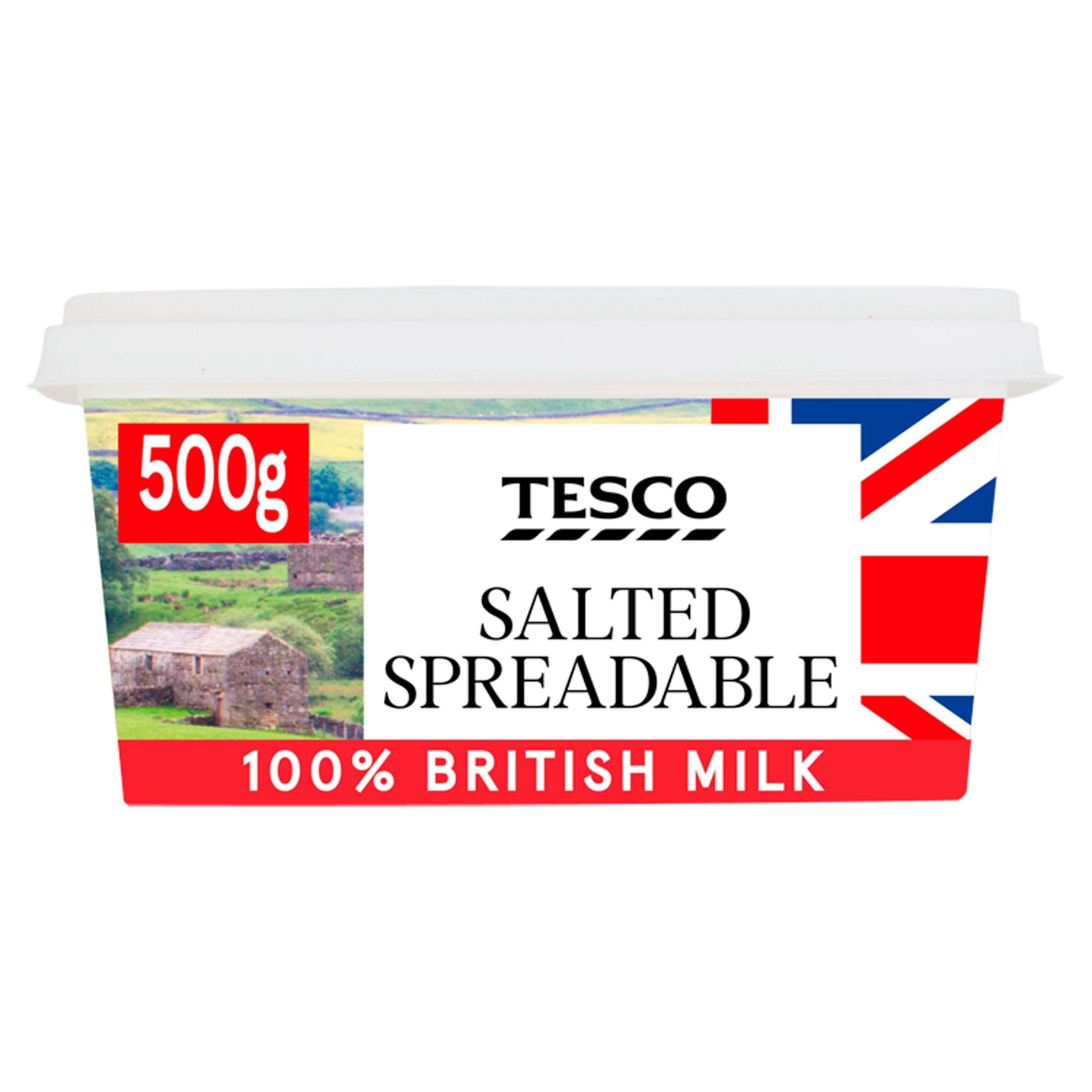 Tesco British Spreadable Salted 500G