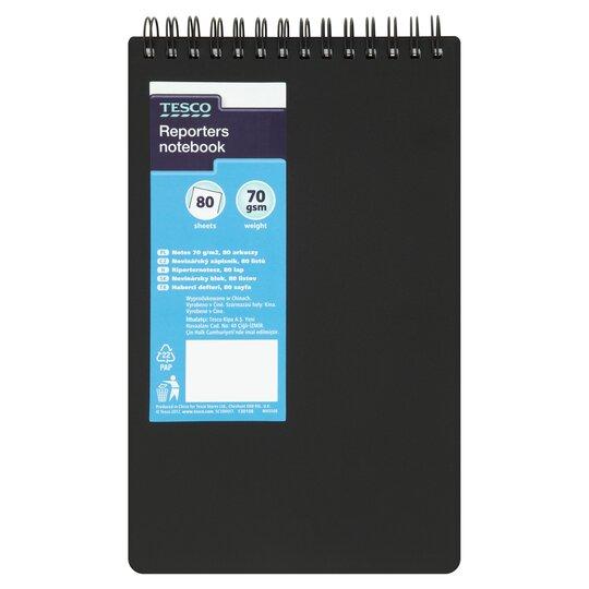 tesco polypropylene reporters notebook 160 pages  tesco