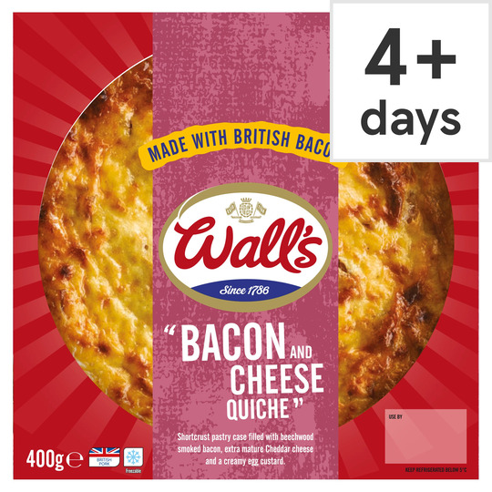 Wall's Cheese & Bacon Quiche 400G