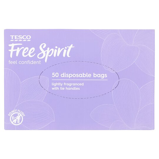Tesco Free Spirit Disposible Bags 50 Pack