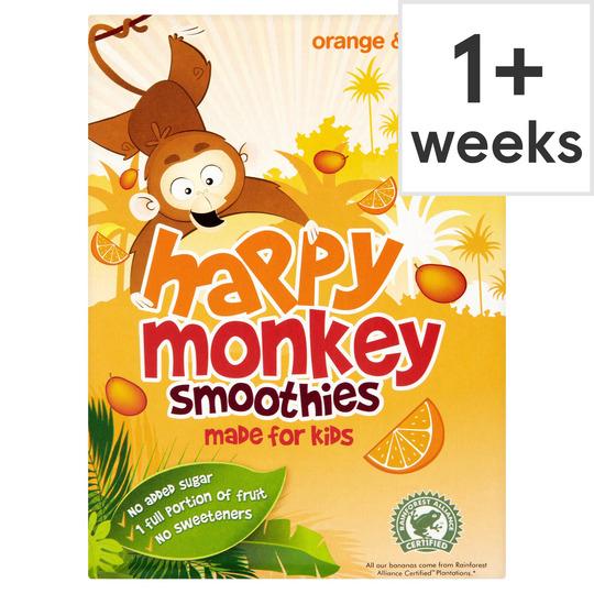 Happy Monkey Orange Mango Smoothie 4X180ml