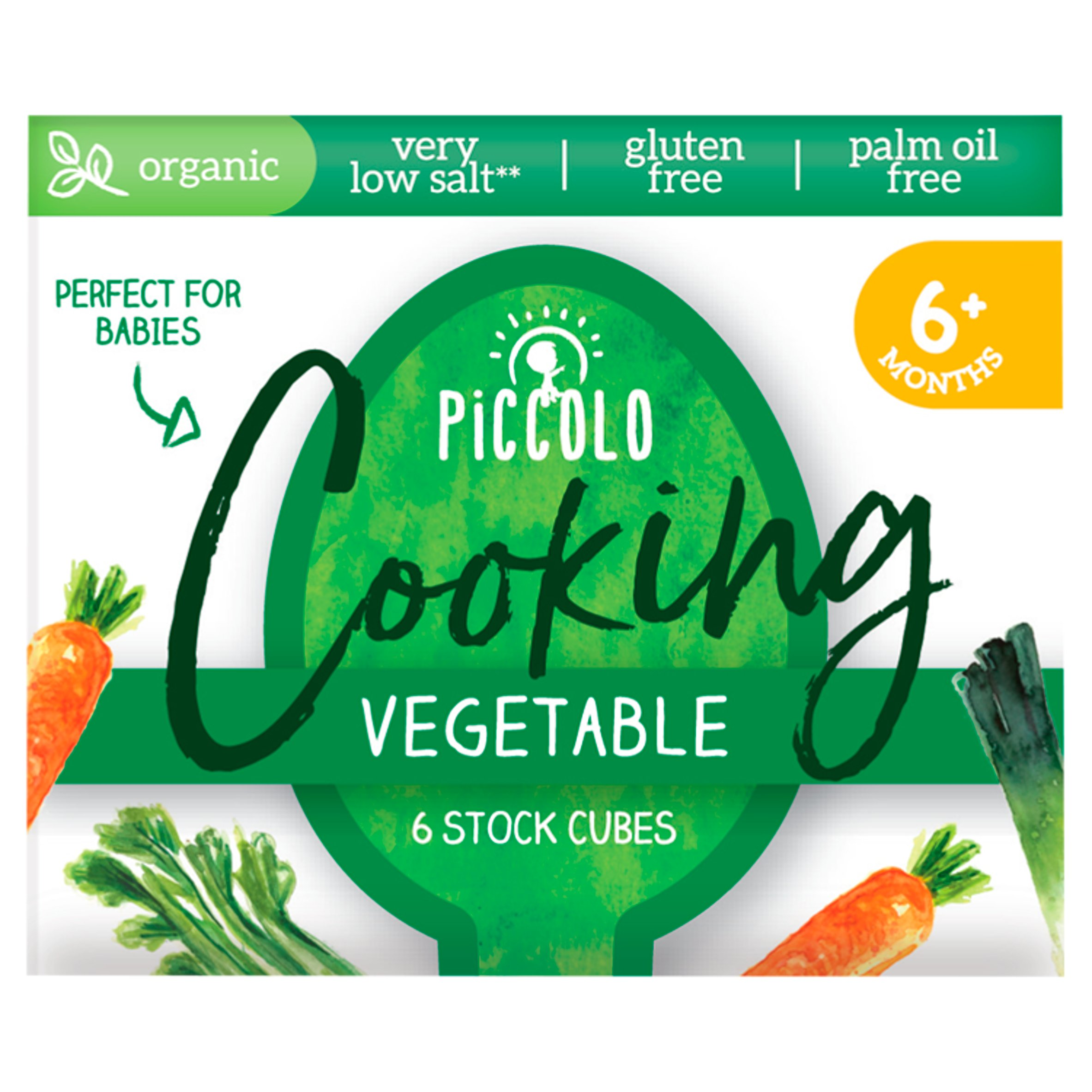 Piccolo Organic Vegetable Stock Cube 48G