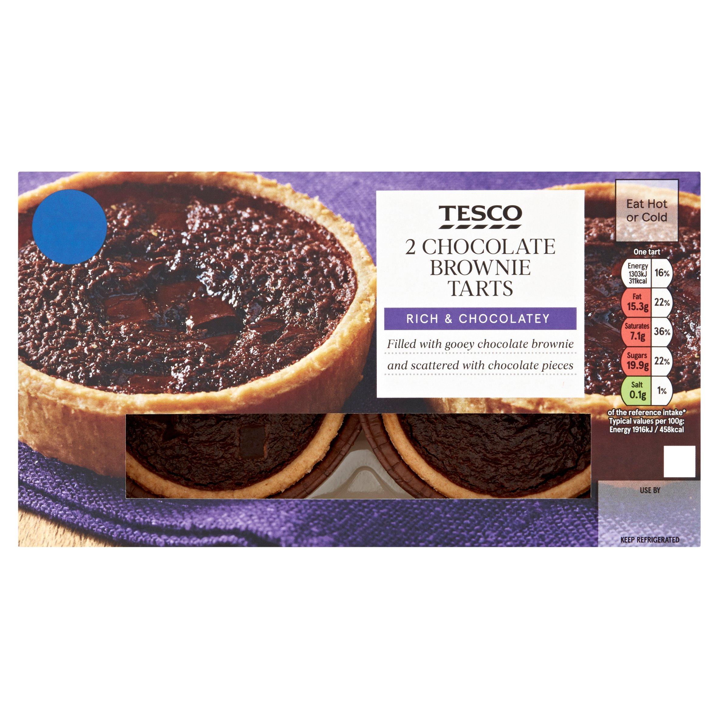 Tesco 2 Chocolate Brownie Tarts 135G