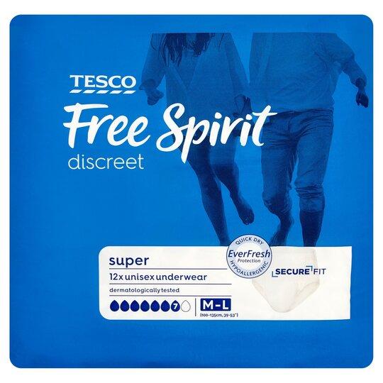 Tesco Free Spirit Super Protection Large Pants 12 Pack