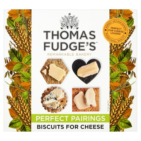Thomas Fudge's Biscuits For Cheese 275G