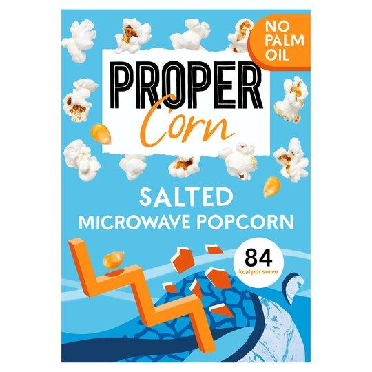 Propercorn Salted Microwave Popcorn 3X70g