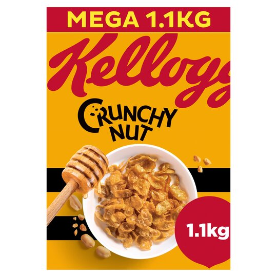 Kellogg's Crunchy Nut Corn Flakes Cereal 1.1Kg