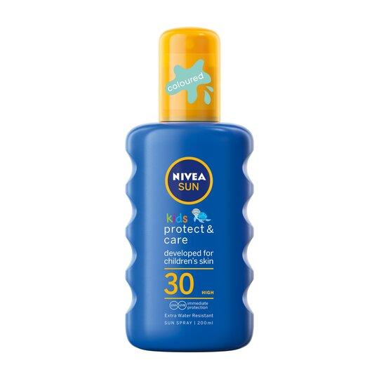 Nivea Childrens Coloured Sun Spray F30 200Ml