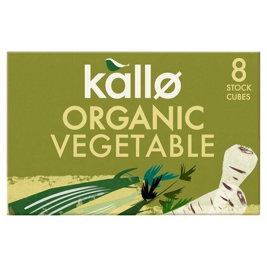 Kallo Organic Vegetable Stock Cubes 8Pk 88G