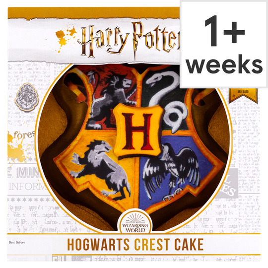 Outstanding Harry Potter Hogwarts Crest Cake Tesco Groceries Personalised Birthday Cards Paralily Jamesorg