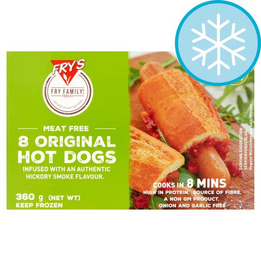 Frys Meat Free 8 Original Hot Dogs 360G
