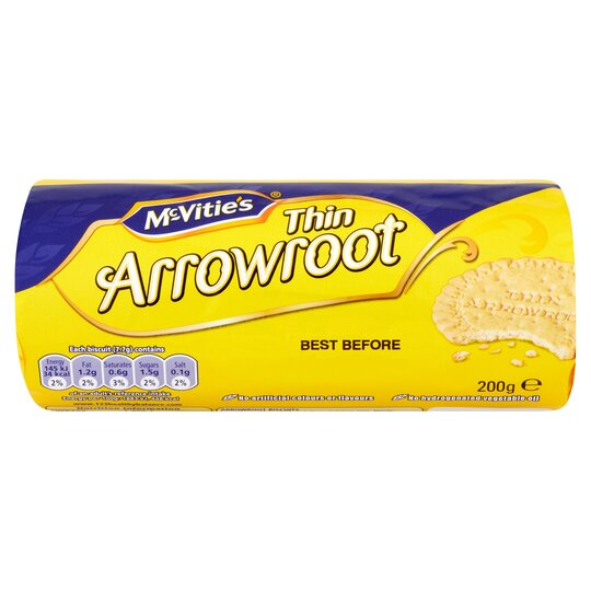 image 1 of Mcvities Crawford Thin Arrowroot Biscts 200G
