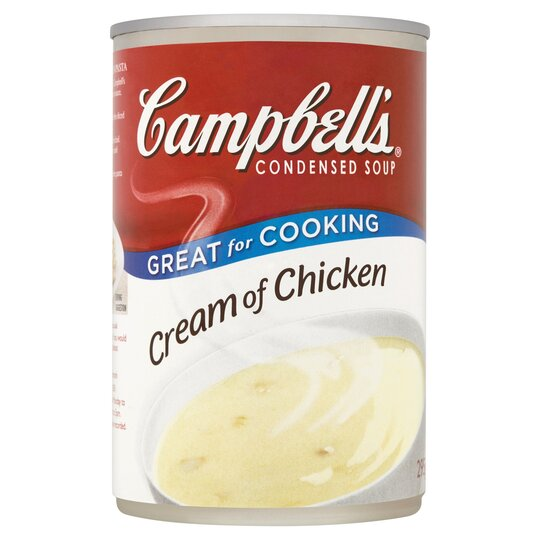 Campbells Cream Of Chicken Condensed Soup 294g Tesco Groceries