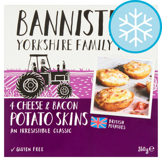 Bannisters Farm 4 Cheese & Bacon Potato Skins 260G