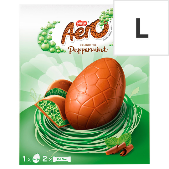 image 1 of Aero Peppermint Milk Chocolate Large Easter Egg 252G