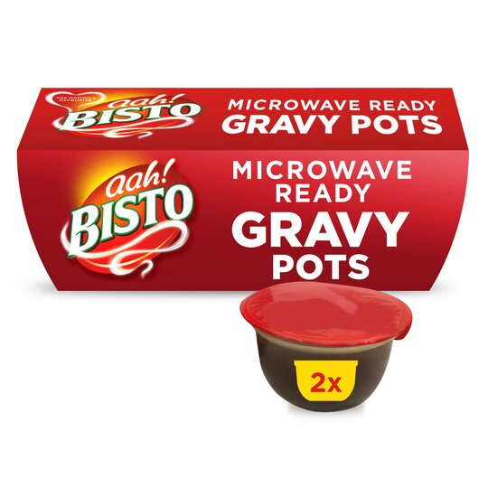 Bisto Microwave Ready Gravy Pots 2X100g