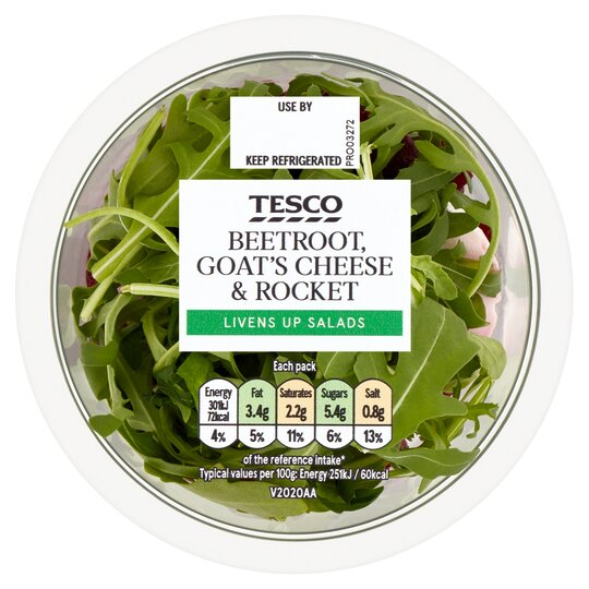 image 1 of Tesco Beetroot Goats Cheese & Rocket 120G