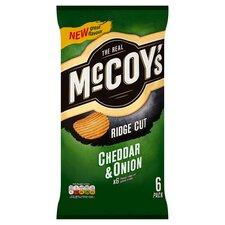 image 1 of Mccoy's Cheddar & Onion Crisps 6X25g