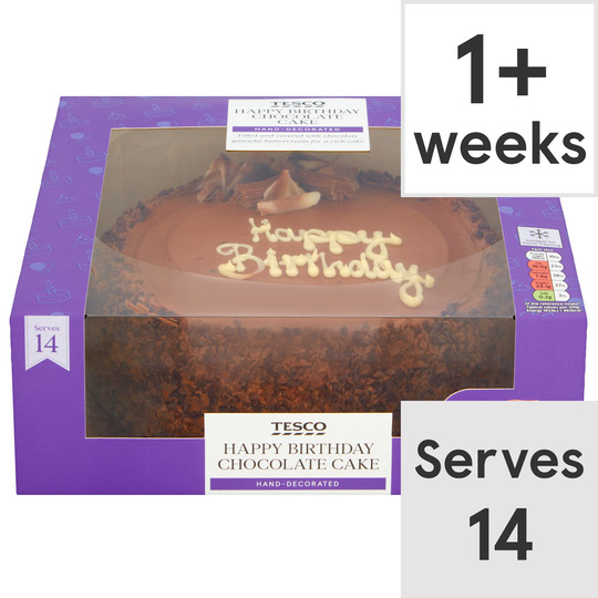 Awe Inspiring Tesco Large Chocolate Celeb Cake Each Tesco Groceries Funny Birthday Cards Online Eattedamsfinfo