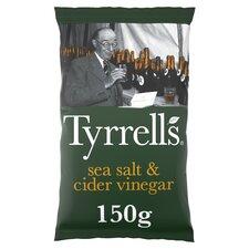 image 1 of Tyrrells Sea Salted & Cider Vinegar Crisps 150G