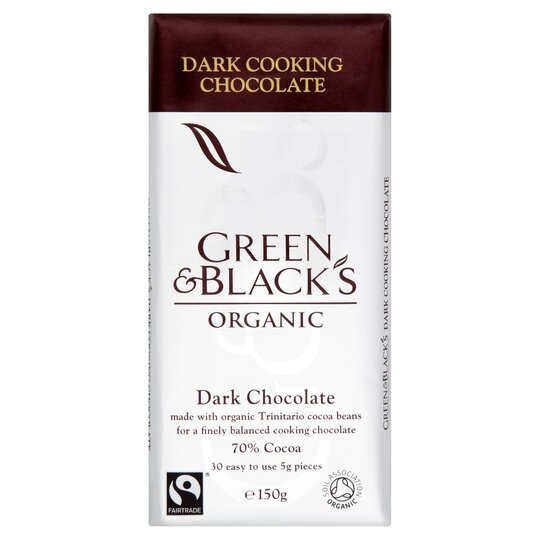 Green & Black Organic Cooking Chocolate 150G