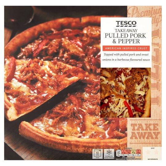 Tesco Takeaway Pulled Pork Pepper Pizza 398g Tesco Groceries