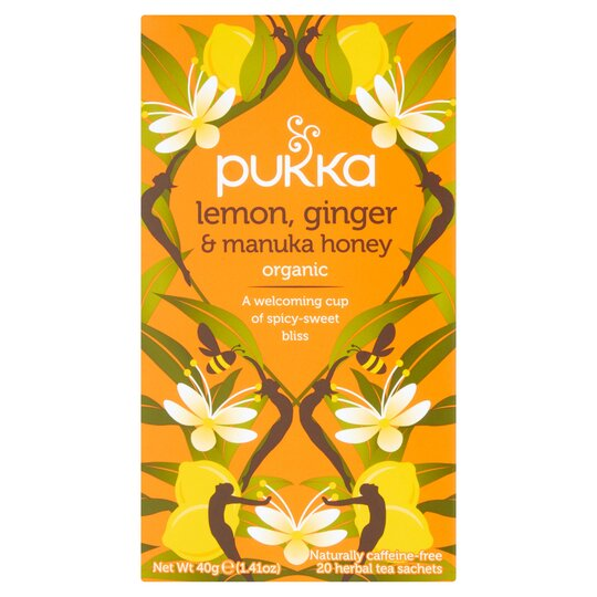 Pukka Organic Lemon & Ginger With Honey 20 Tea Bags 40G