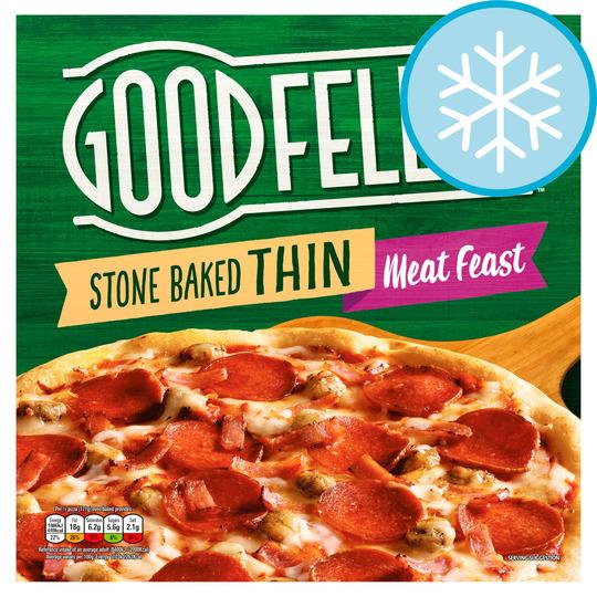 Goodfellas Stonebaked Thin Meat Feast 353G